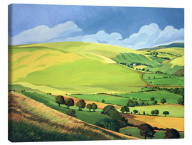 Canvas print  Small green valley, Wales - Anna Teasdale