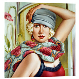 Acrylic glass  GREY CLOCHE - Catherine Abel