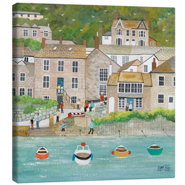 Canvas print  The wharf in Mousehole - Judy Joel