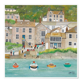 Premium poster The wharf in Mousehole