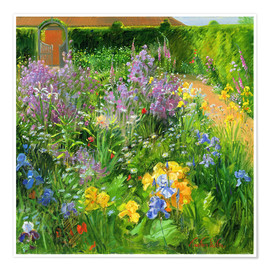 Poster  Flower garden - Timothy Easton