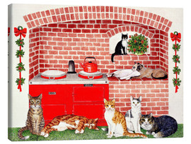 Canvas print  Cats in the kitchen - Pat Scott