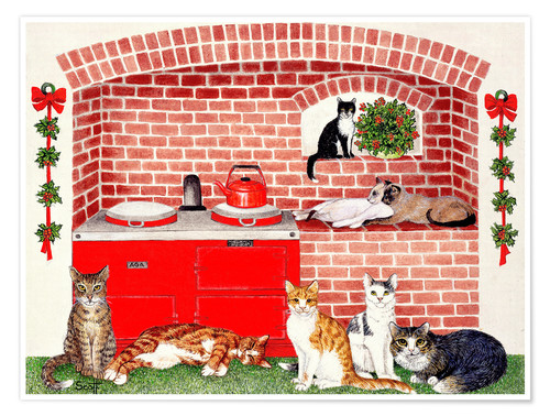 Premium Poster Cats In The Kitchen