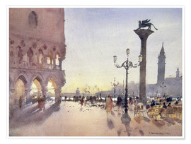 Premium poster Morning on the Piazzetta, Venice