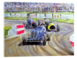 Acrylic print  The First Race at the Goodwood Revival, 1998 - Clive Metcalfe