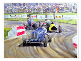 Premium poster  The First Race at the Goodwood Revival, 1998 - Clive Metcalfe