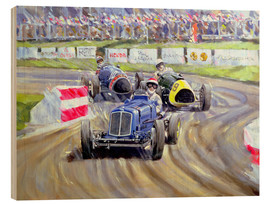 Wood print  The First Race at the Goodwood Revival, 1998 - Clive Metcalfe