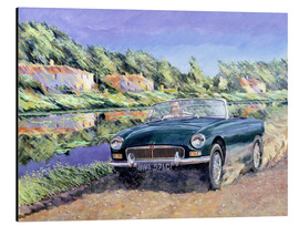 Aluminium print  MGB on a French channel - Clive Metcalfe