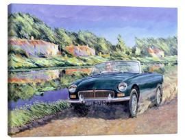 Canvas print  MGB on a French channel - Clive Metcalfe