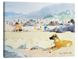 Canvas print  Dog on the Beach, Woolacombe - Lucy Willis
