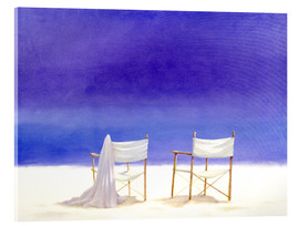 Acrylic glass  Chairs on the beach, 1995 - Lincoln Seligman