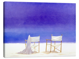 Canvas print  Chairs on the beach, 1995 - Lincoln Seligman