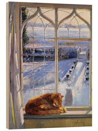 Wood print  Cat in the Window - Timothy Easton