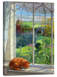 Canvas print  Cat in the window in summer - Timothy Easton