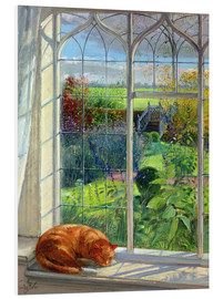 Foam board print  Cat in the window in summer - Timothy Easton