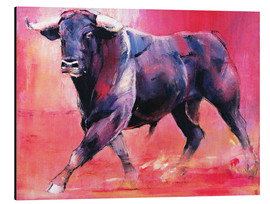 Alu-Dibond  Trotting bull - Mark Adlington