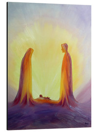 Aluminium print  Mary and Jesus are looking at their child Jesus, 1995 - Elizabeth Wang