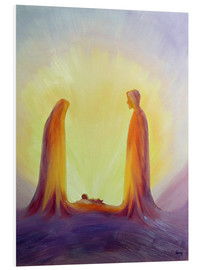 Foam board print  Mary and Jesus are looking at their child Jesus, 1995 - Elizabeth Wang