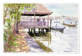 Premium poster  The Jetty, Cochin - Lucy Willis