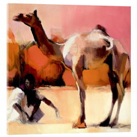 Acrylic print  Camel and cameleer - Mark Adlington