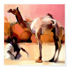 Premium poster  Camel and cameleer - Mark Adlington