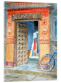Acrylic glass  In the Old Town, Bhuj - Lucy Willis