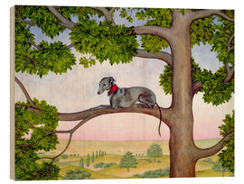 Wood print  Whippet on the tree - Ditz