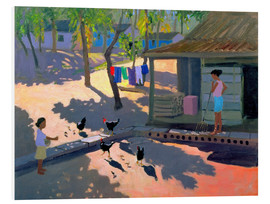 Foam board print  Hens and Chickens, Cuba, 1997 - Andrew Macara
