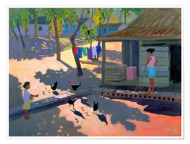 Premium poster  Hens and Chickens, Cuba, 1997 - Andrew Macara