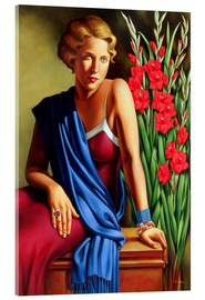 Acrylic glass  GIRL WITH THE SCARAB RING - Catherine Abel