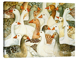 Canvas  Patchwork Geese - Ditz