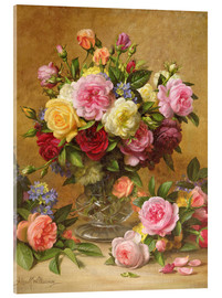 Acrylic print  Victorian Roses - Albert Williams