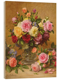 Wood print  Victorian Roses - Albert Williams