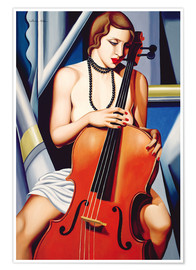Poster  WOMAN WITH CELLO - Catherine Abel