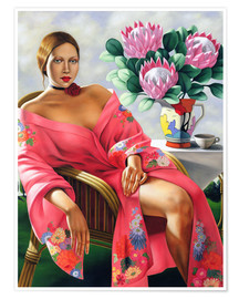 Poster  TEA, LATE AFTERNOON - Catherine Abel