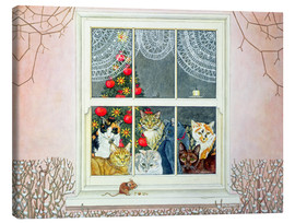 Canvas print  The Christmas-Mouse - Ditz
