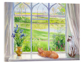 Acrylic print  Cats at the window - Timothy Easton