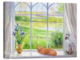 Canvas  Cats at the window - Timothy Easton
