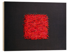 Wood print  Chillies - Lincoln Seligman