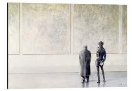 Alu-Dibond  Man and Woman in an Art Gallery - Lincoln Seligman
