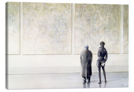 Canvas print  Man and woman in an art exhibition - Lincoln Seligman