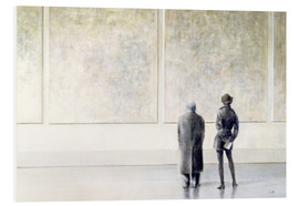 Foam board print  Man and woman in an art exhibition - Lincoln Seligman