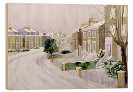Wood print  Stockwell in the snow - Sarah Butterfield