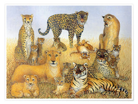 Premium poster  Various big cats - Pat Scott