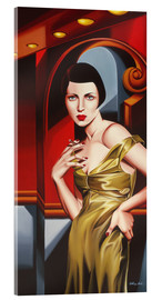 Acrylic glass  OLIVE SATIN DRESS - Catherine Abel