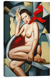 Canvas  ORANGE SCARF - Catherine Abel