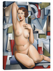 Canvas print  Seated cubist naked woman - Catherine Abel
