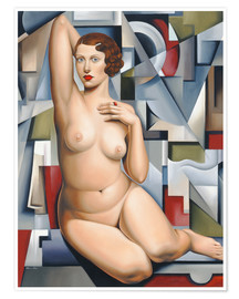 Poster  SEATED CUBIST NUDE - Catherine Abel