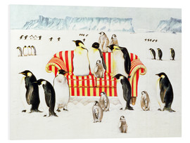 Foam board print  Penguins on a sofa - E.B. Watts