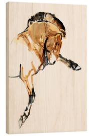 Wood print  Stallion - Mark Adlington